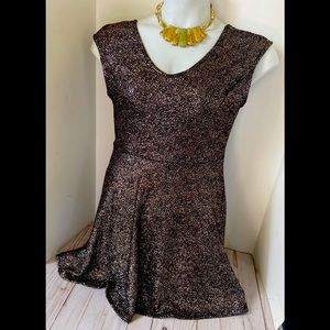 Black /gold fitted dress
